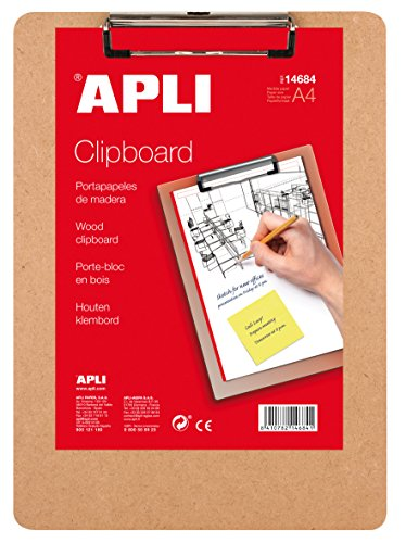 APLI 14684 - Clipboard legno A4