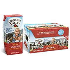 12 shelf stable, individual organic milk boxes of whole milk (plain) with straw Ultra pasteurized (UHT) dairy milk, with naturally occurring omega-3 and CLA Single serve milk boxes for kids. Perfect for lunch boxes, snacks, and on the go No refrigera...