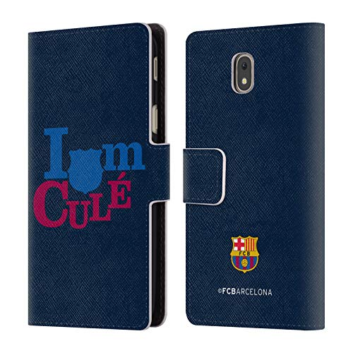 Official FC Barcelona I'm A Cule Campions Leather Book Wallet Case Cover Compatible For Samsung Galaxy J5 (2017)