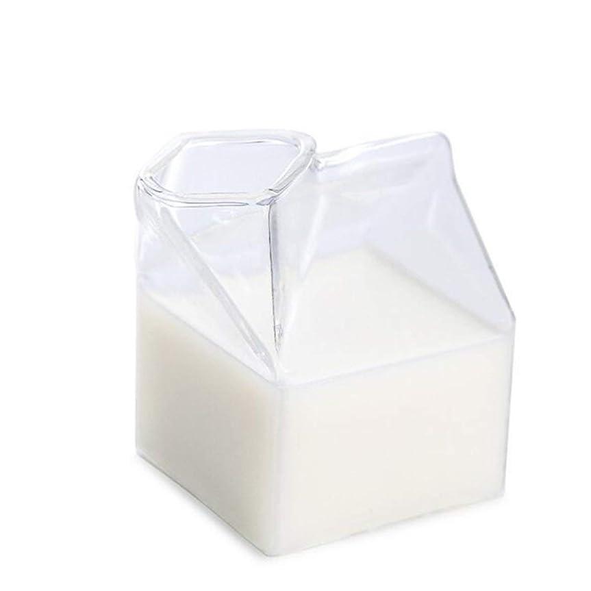 過度の雄大な場所intercoreyガラス牛乳ガラスカップクリエイティブアメリカンミルクカートンノベルティミルクコーヒージュースカップクリスタル朝食コンテナボックス缶電子レンジ