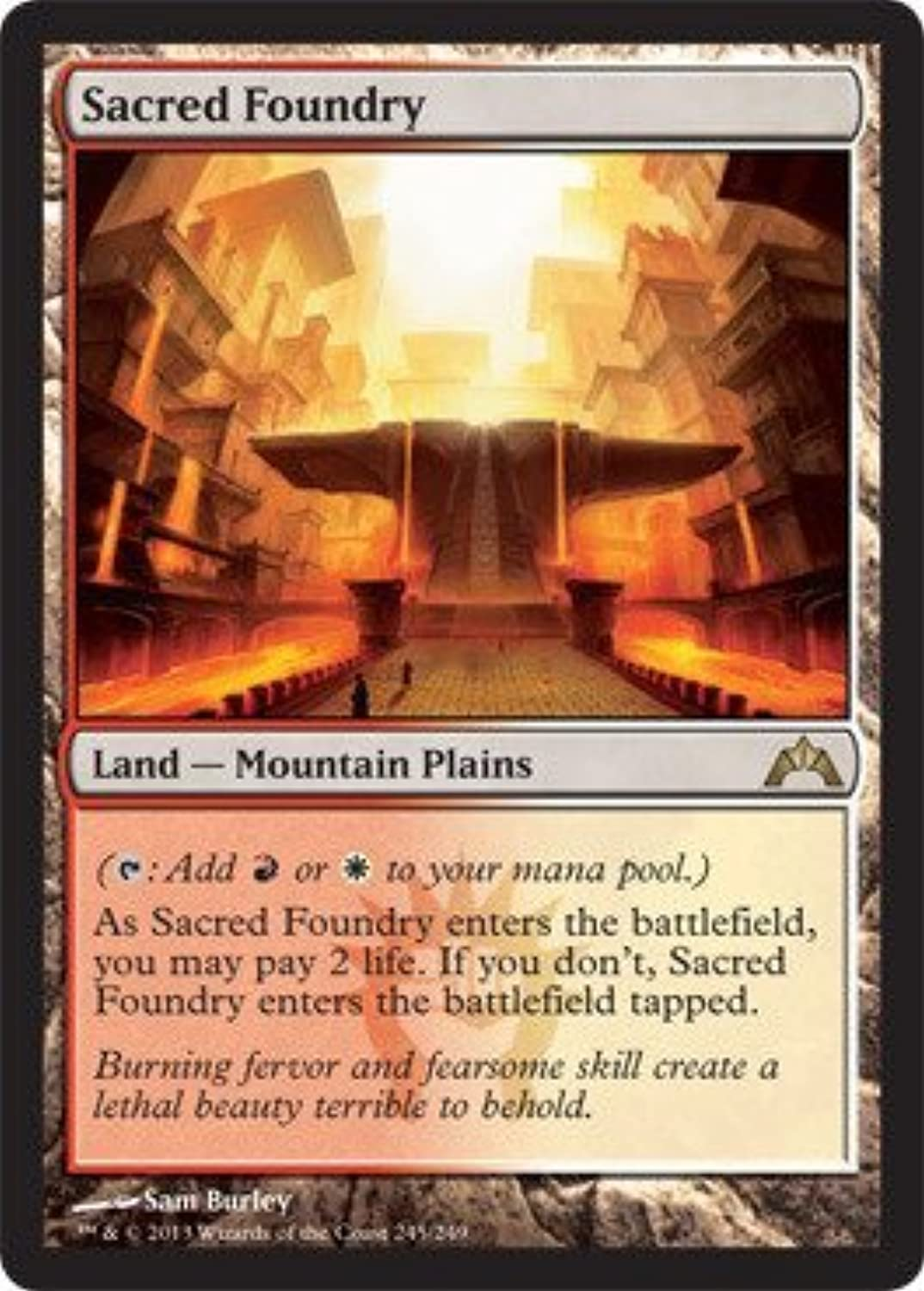 Magic  the Gathering  Sacred Foundry (245)  Gatecrash  Foil by Magic  the Gathering