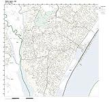 ZIP Code Wall Map of Wilmington, NC ZIP Code Map Laminated