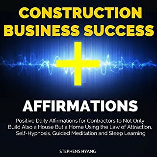 Construction Business Success Affirmations audiobook cover art
