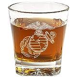 US Marine Corps Emblem Whiskey Glass (Set of...