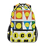 DXG1 - Mochila para mujer, hombre, adolescente, niña, escuela, bolsa de bienvenida a casa, libro de viaje, universidad, hombro, gran capacidad, 40,5 x 29 x 20 cm