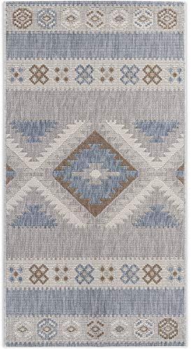 In- und Outdoor-Teppich Cool Nordic Pattern 80x150cm Kunststoff für Innen und Außen