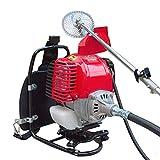 TABODD Cortacésped de gasolina de 4 tiempos, 31 cc, con accionamiento de gasolina, con correa de transporte ajustable y cómoda