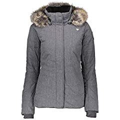 Removable faux fur and removable hood Interior windguard, interior stash pocket(s), and Interior electronics pocket(s) Water-resistant and Snap-Away powderskirt Fleece lined collar Adjustable hem