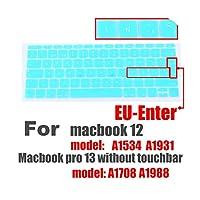 スペイン語EUシリコンキーボードプロテクターカバーfor MacBook用皮膚保護フィルム12インチプロ13カラフルなキーボードフィルムスペイン -E