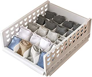 PPCP Storage Box Wardrobe Layered Partition Storage Box Drawer Storage Artifact (Color : Beige)