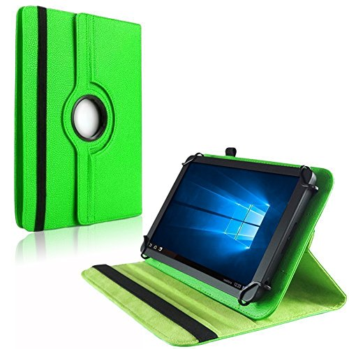 NAUC Tablet Hülle für Blaupunkt Atlantis Discovery 1001A Tasche Schutzhülle Hülle Cover, Farben:Grün