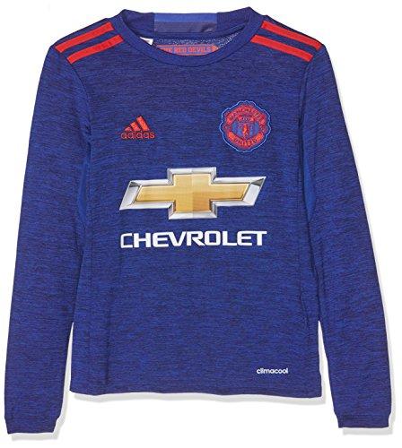 adidas JSY Yl Camiseta 2ª Equipación Manchester United 2015/16, Niños, Azul/Rojo, 15-16 años