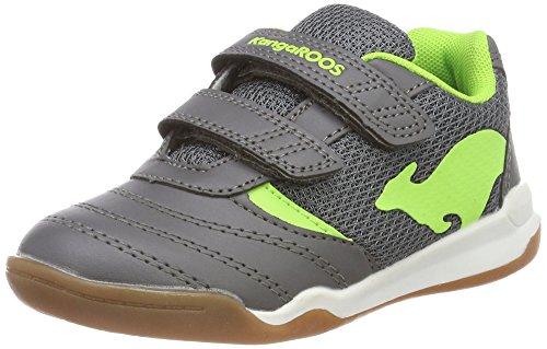 KangaROOS Unisex-Kinder Chelo Comb V Multisport Indoor Schuhe, Grau (Steel Grey/Lime 2014), 37 EU
