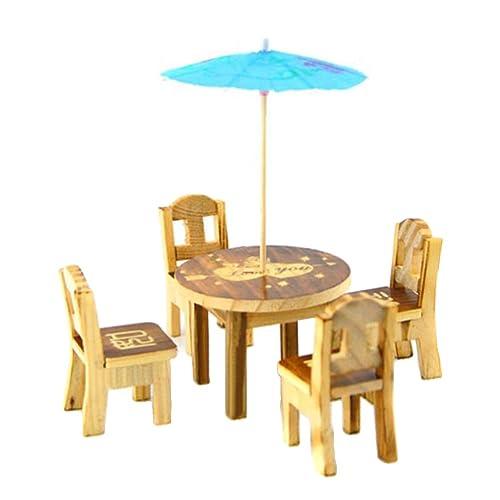 Open-Minded 1 Set Furniture Desk+laptop+chair Model Landscape Sand Model Toy Dollhouse Miniature High Quality Toys & Hobbies Doll Houses