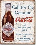 The Finest Website Inc. Nueva Coca Cola Coke Call para Genuino 16' x 12.5' (D1918) Apariencia Antigua Publicidad Lata Sign