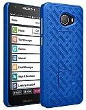 Case for Jitterbug Smart2, Nakedcellphone [Cobalt Blue] Slim Ribbed Rubberized Hard Shell Cover [with Kickstand] for GreatCall Jitterbug Smart2 Phone (5049SJBS2, Smart-2)