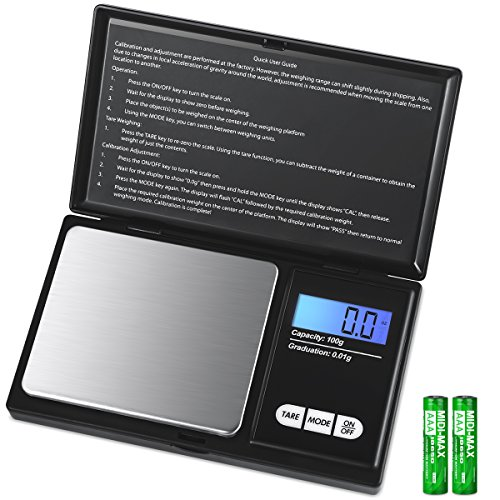 AMIR Digital Scientific Scale, 100g 0.01g/ 0.001oz Pocket Scale, Lab Instruments Scale with 7 Units, LCD Backlit Display…