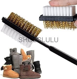 Shoeslulu Suede & Nubuck 2 Ways Leather Larger Brush Cleaner (1 Pack, Longer Wires [Larger Surface])
