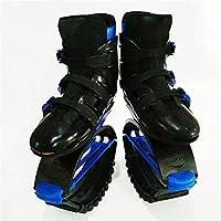 跳躍の靴スリミングローラースケートボディの形を整えるスポーツフィットネスシューズの靴の靴女性男性の若者ランニングシューズ (Color : Black blue, Size : XL)