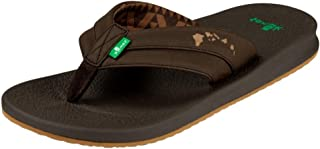 Sanuk Casual Sandals Mens Brumeister Hawaii Slip On 8 M Brown 1018744