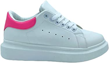 Sneakers Platform con Dettaglio Fluo