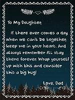 MUM/DADからの娘毛布 - 手紙プリント毛布 - 超ソフト フランネルベッドスロー パーソナライズされたキルト 寝台の寝台のために寝台のために 誕生日プレゼント,B,150*200cm