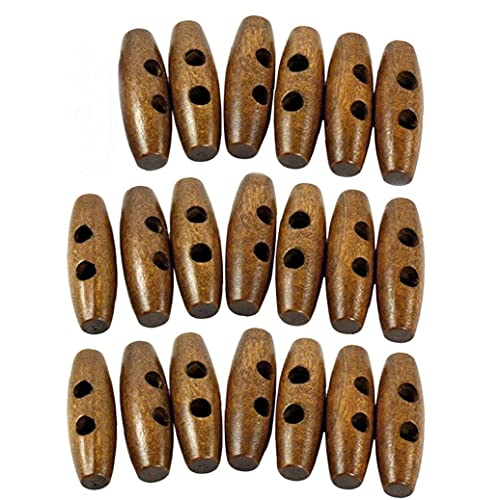 Liadance Activar Botones de Coser Ojales 2 Escudo de Madera de la Vendimia de 35 * 11 mm para la Ropa de bebé para Adultos decoración 20PCS joyería
