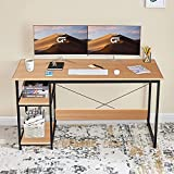 """Large Size Computer Desk- 47"""" x 23.5"""" large desktop that provides plenty of space in your home office. This computer desk is a great option for gaming, studying, writing and more. Best Choice for Christmas gifts! Writing Desk with Storage Shelves- A ..."""