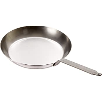 Matfer Bourgeat, Gray 062003 Black Steel Round Frying Pan, 10 1/4-Inch