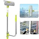LILUN6 Limpiaparabrisas de Vidrio, Limpiador retráctil 3 en 1, ángulo libremente Ajustable, función de rociado de Agua, Utilizado en Ventanas de baño y automóviles