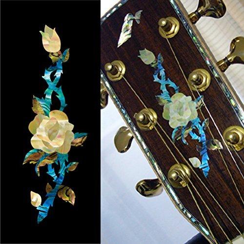 Inlay Sticker für Gitarre Kopfplatte - Rose Vine