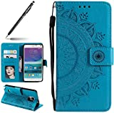 Uposao Housse Etui Samsung Galaxy Note 4 Coque en PU, Flip Cover Case Bumper Coque de Protection...