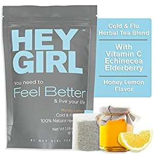 Feel Better Herbal Tea – Immune Support, Immune Booster w/Echinacea, Elderberry, Vitamin C, Ginseng, Ginger | Thoughtful Gifts for Women
