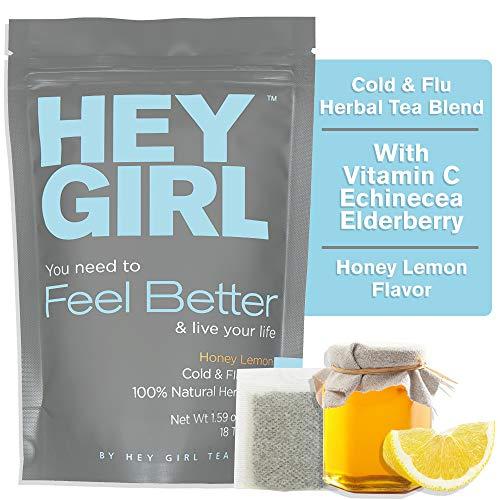 Feel Better Herbal Tea - Immune Support for Cold and Flu Symptoms, Immune Booster w/ Echinacea , Elderberry , Vitamin C , Ginseng , Ginger | Thoughtful Gifts For Women Echinacea Purpurea Echinacea Medicine