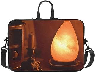 Himalayan Healthy Salt Lamp Vintage Bed Light Pattern Briefcase Laptop Bag Messenger Shoulder Work Bag Crossbody Handbag for Business Travelling