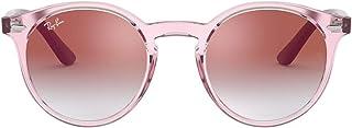 Ray-Ban Kids' 0rj9064s Round Sunglasses Transparent Pink 44.1 mm