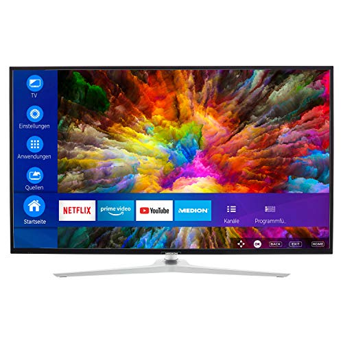 MEDION X14040 101,6 cm (40 Zoll) UHD Fernseher (Smart-TV, 4K Ultra HD, Dolby Vision HDR, Netflix, Prime Video, WLAN, HD Triple Tuner, DTS Sound, PVR, Bluetooth)