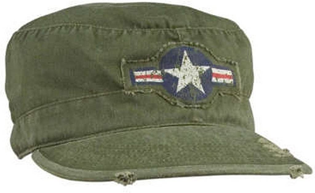 Mens Military We OFFer at cheap prices Hat - Vintage Army Drab Fatigue OFFicial Olive Cap Corp Air