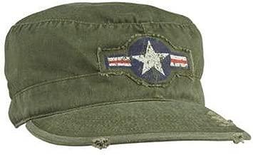 vintage military fatigue caps