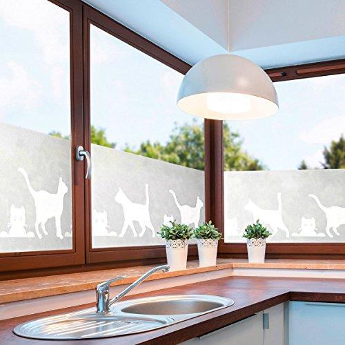 JOKA International Fenster Sichtschutzfolie Katze, Folie für Sichtschutz am Fenster 14294