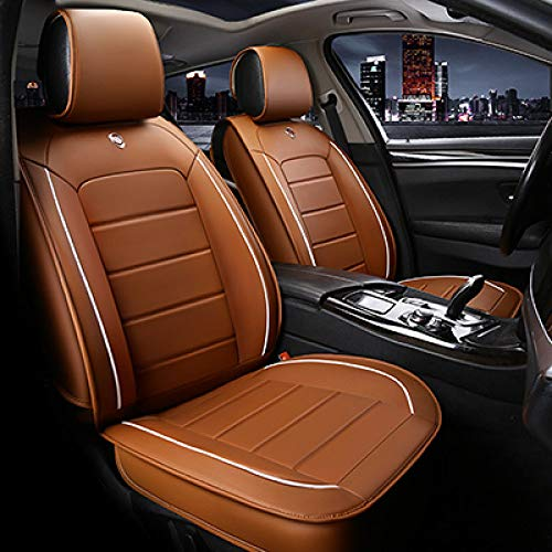 JINRYIGK Funda de Asiento de Coche Universal para Opel Todos los Modelos Astra HJG Mokka Insignia Cascada Corsa Adam Ampera Andhra Zafira Accesorios de automóvil, marrón sin Almohada