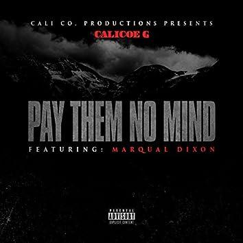 Pay Them No Mind