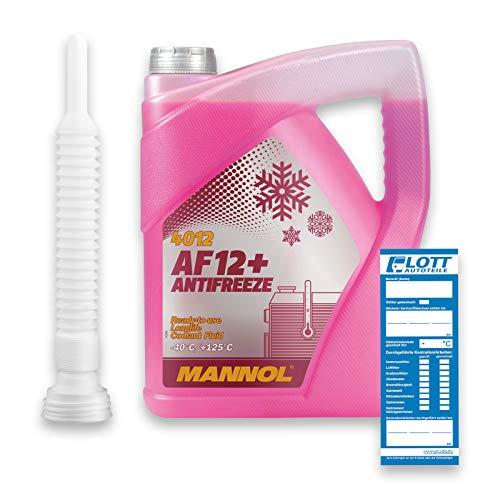 MANNOL G12+ Antifreeze 5L Kühlerfrostschutz Kühlmittel AF12+ bis - 40°C + Auslaufschlauch