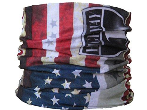 Tour de cou multifonctions avec pour motif le drapeau américain, Highway1