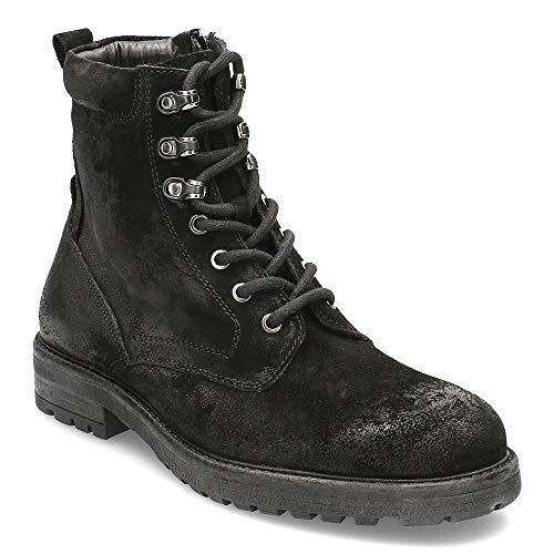 s.Oliver Herren Stiefel 15204-23, Männer Schnürstiefel, Boots Combat schnürung Herren Maenner maennliche maskulin rustikal Men,Black,41 EU / 7.5 UK