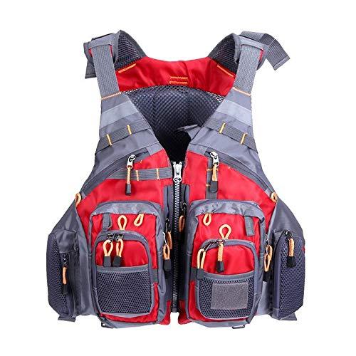 JKSPORTS Fly Fishing Vest, Fishing Safety Life Jacket for Swimming...