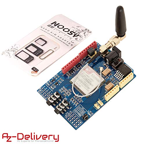 AZDelivery SIM 900 GPRS/GSM Shield für Arduino mit gratis eBook!