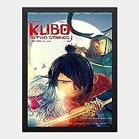 ハンギングペインティング - KUBO クボ 二本の弦の秘密のポスター 黒フォトフレーム、ファッション絵画、壁飾り、家族壁画装飾 サイズ:33x24cm(額縁を送る)