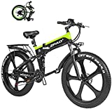 Bicicleta Eléctrica Plegable Bicicleta eléctrica de la nieve, 1000W FAT BICIER ELÉCTRICA 48V batería de litio Montaña para hombre E Bicicleta 21 velocidades de la bicicleta de la bicicleta de la bicic