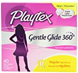 Playtex Gentle Glide Tampons with Triple Layer Protection, Fresh Scent, 40 Count